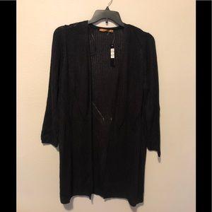 Belldini Black Open Front Cardigan